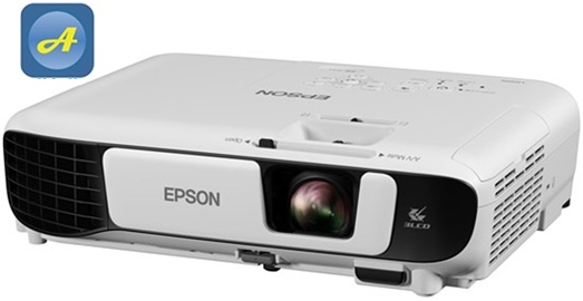 may chieu epson eb x41 mat truoc