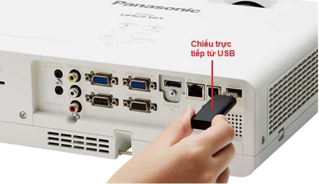 may chieu panasonic pt lb353 ket noi usb